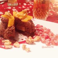 Mousse au Chocolat Törtchen mit Jasminteekern