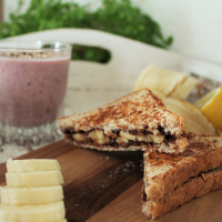 Schoko-Bananen-Toast
