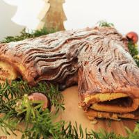 Bûche de Noël - Kuchen mit Baumoptik