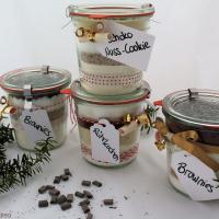 4 Backmischungen im Glas - Last Minute Geschenkidee