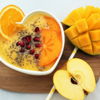 Orangen-Ananas-Smoothie - Powersmoothie für kalte Tage