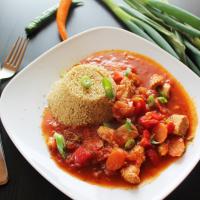 Hühnchen auf marokkanisch mit Quinoa