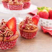 Nutella-Erdbeer-Cupcakes