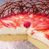 Veganer Erdbeer-Pudding-Kuchen