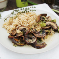 Pilz-Pfanne mit Naturreis