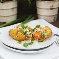 Kartoffeln mit Käse-Dip