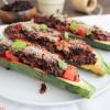 Zucchinischiffchen mit Reisfüllung [vegan]
