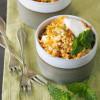 Couscous-Salat mit Feta, Minze und Karotte