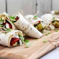 Vegetarische Wraps mit Grillgemüse
