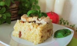Schnelles Apfel-Pilz-Risotto