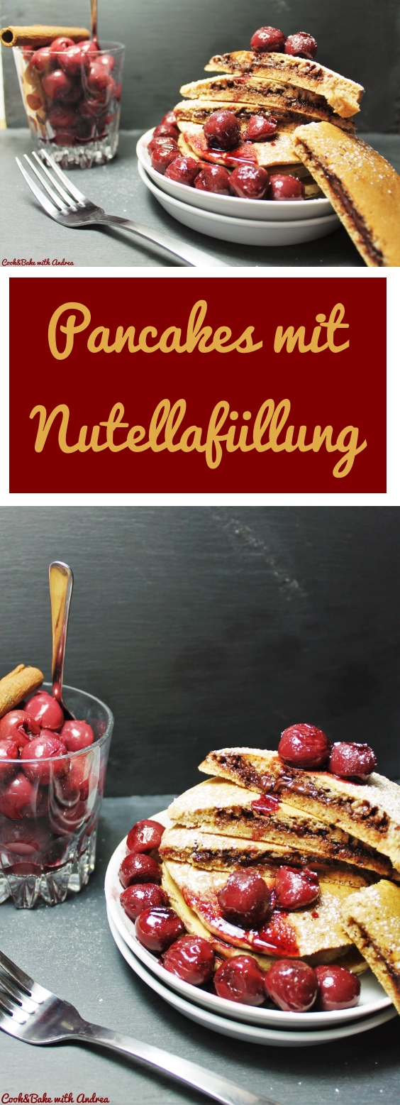 Pancakes.mit.Nutellafüllung.CandBwithAndrea - Collage