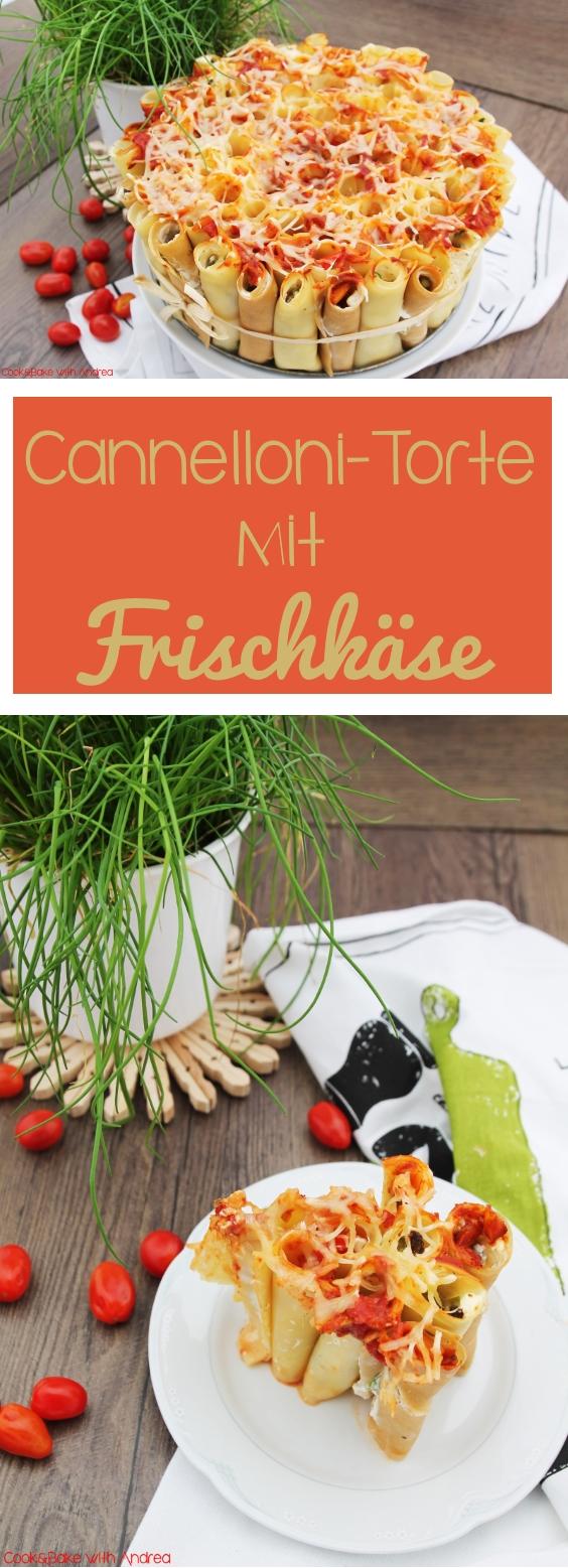 Cannelloni Torte mit Frischkäse - Exquisa-Bloggerrezept - www.candbwithandrea.com - Frühling - Rezept - Collage