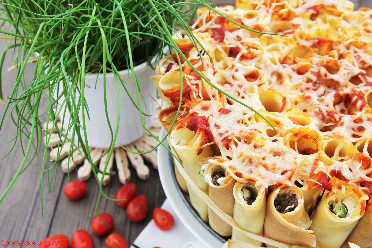 Cannelloni Torte mit Frischkäse - Exquisa-Bloggerrezept - www.candbwithandrea.com - Frühling - Rezept-min