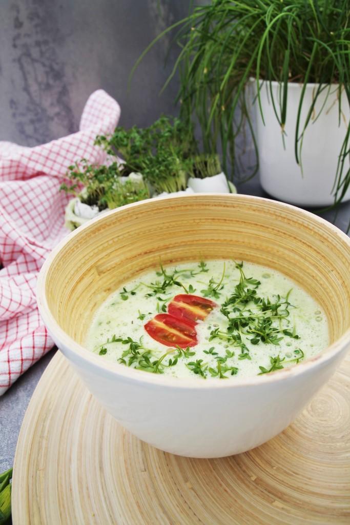 Rucolasuppe mit Kresse - Suppe - Frühling - www.candbwithandrea.com - Rezept-min