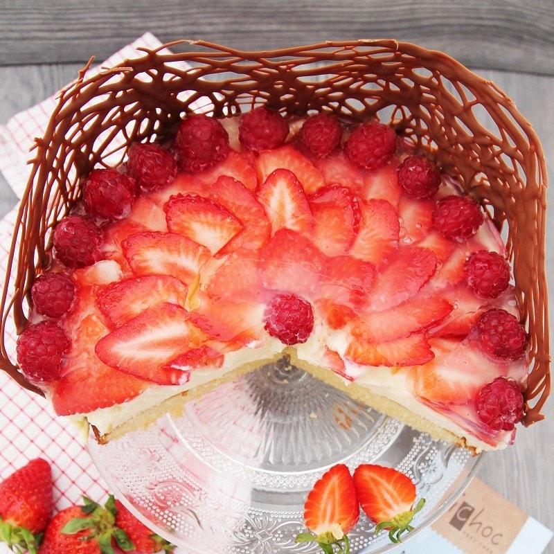 veganer erdbeer pudding kuchen c b with andrea. Black Bedroom Furniture Sets. Home Design Ideas