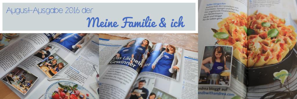 C&B with Andrea in der Meine Familie & ich - August Ausgabe - Presse und PR - www.candbwithandrea