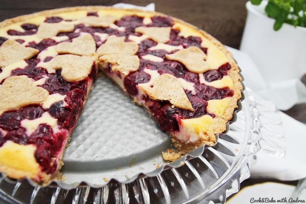 C&B with Andrea - Kirsch-Quark-Kuchen - Cheesecake Rezept - www.candbwithandrea.com4-min