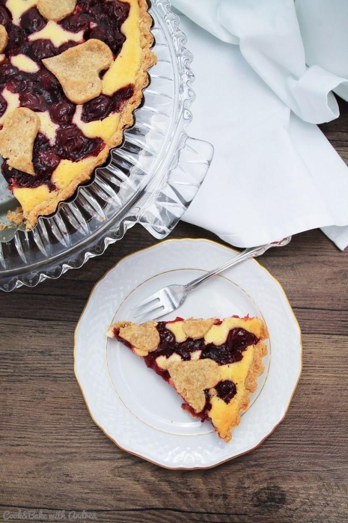 C&B with Andrea - Kirsch-Quark-Kuchen - Cheesecake Rezept - www.candbwithandrea.com5-min