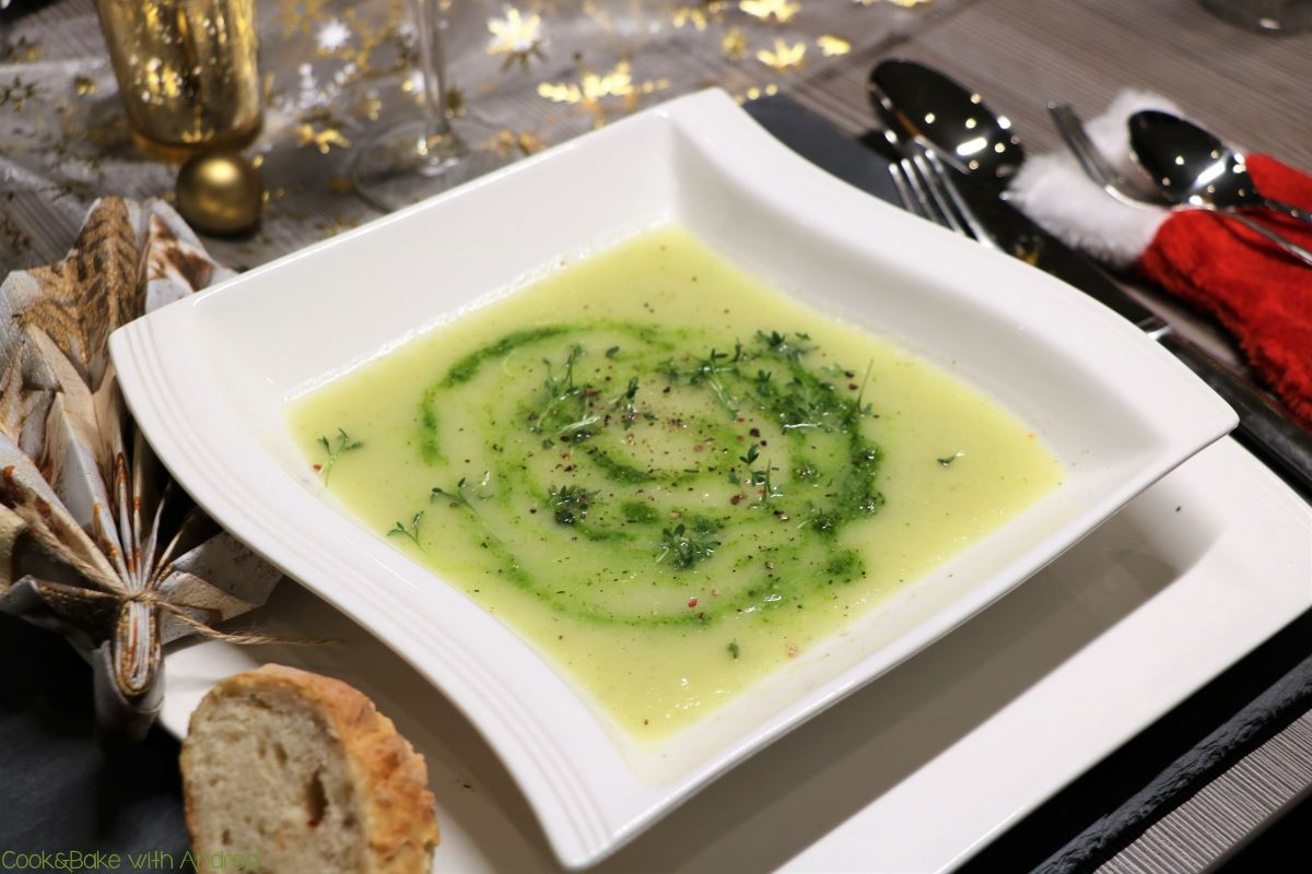 Kohlrabi-Suppe mit Kräuterpesto - C&B with Andrea