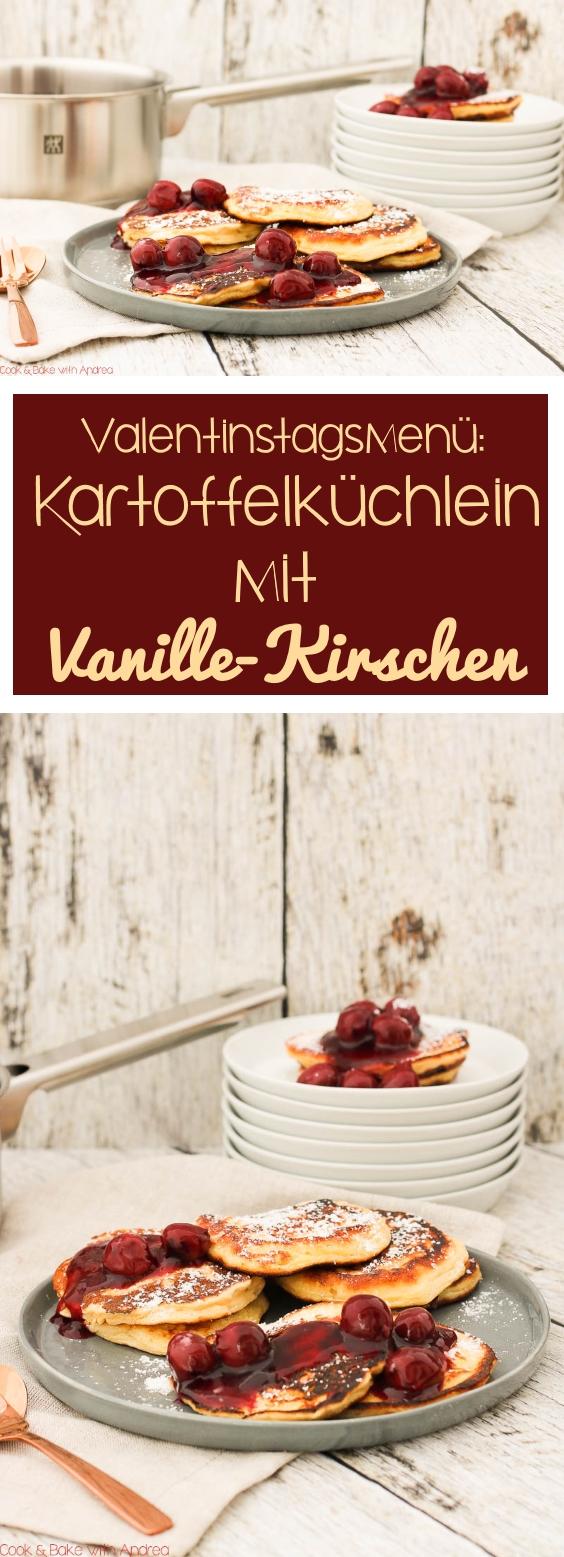 C&B with Andrea - Kartoffelküchlein mit Vanille-Kirschen Rezept - www.candbwithandrea.com - Collage