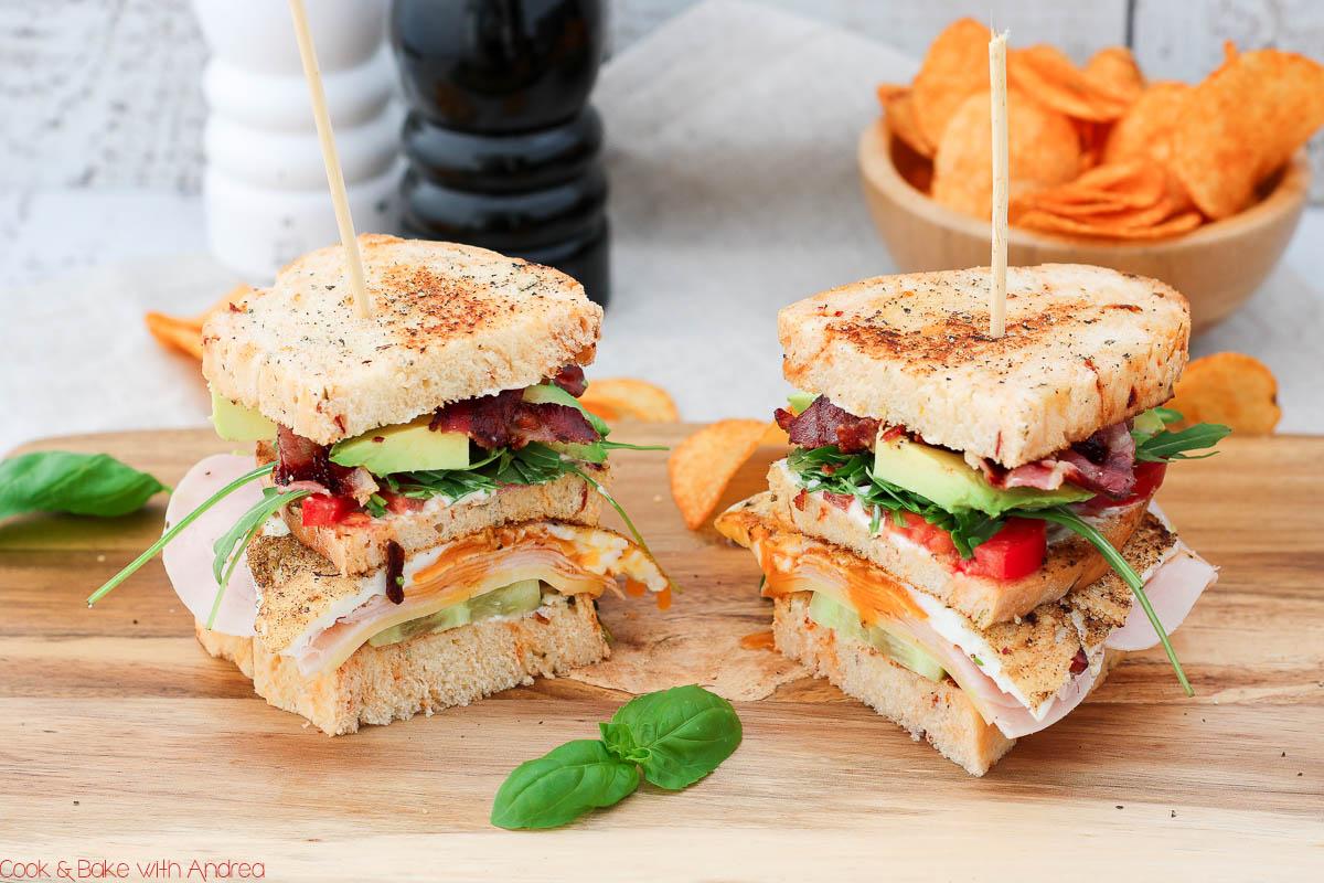 C&B with Andrea - Klassisches Club Sandwich mit Chips Rezept - www.candbwithandrea.com1