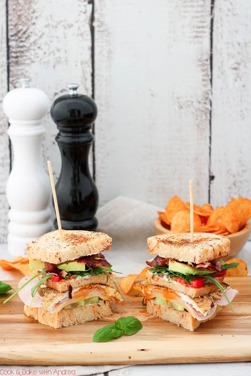 C&B with Andrea - Klassisches Club Sandwich mit Chips Rezept - www.candbwithandrea.com