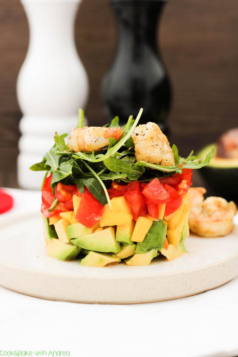 C&B with Andrea - Mango-Avocado-Salat mit Garnelen Rezept - www.candbwithandrea.com1