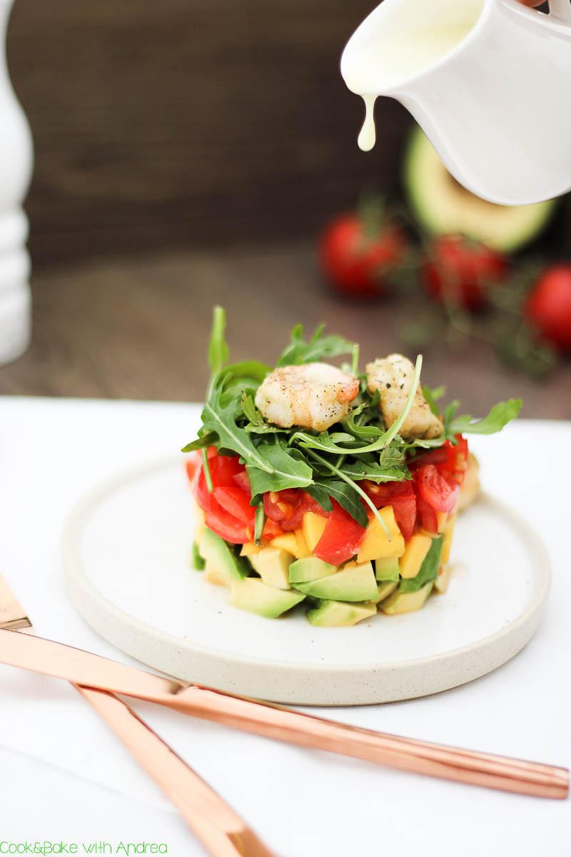C&B with Andrea - Mango-Avocado-Salat mit Garnelen Rezept - www.candbwithandrea.com5