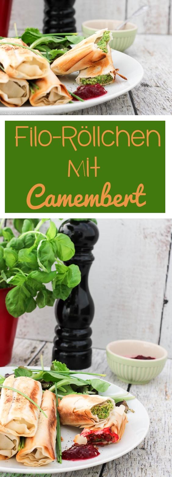 C&B with Andrea für Tante Fanny Teige - Filo-Röllchen mit Camembert Rezept - www.candbwithandrea.com - Collage