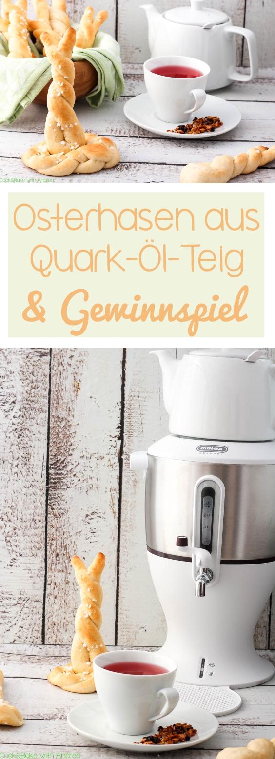 C&B with Andrea - Osterhasen aus Quark-Öl-Teig Rezept und Gewinnspiel - Ostern - www.candbwithandrea.com - Collage
