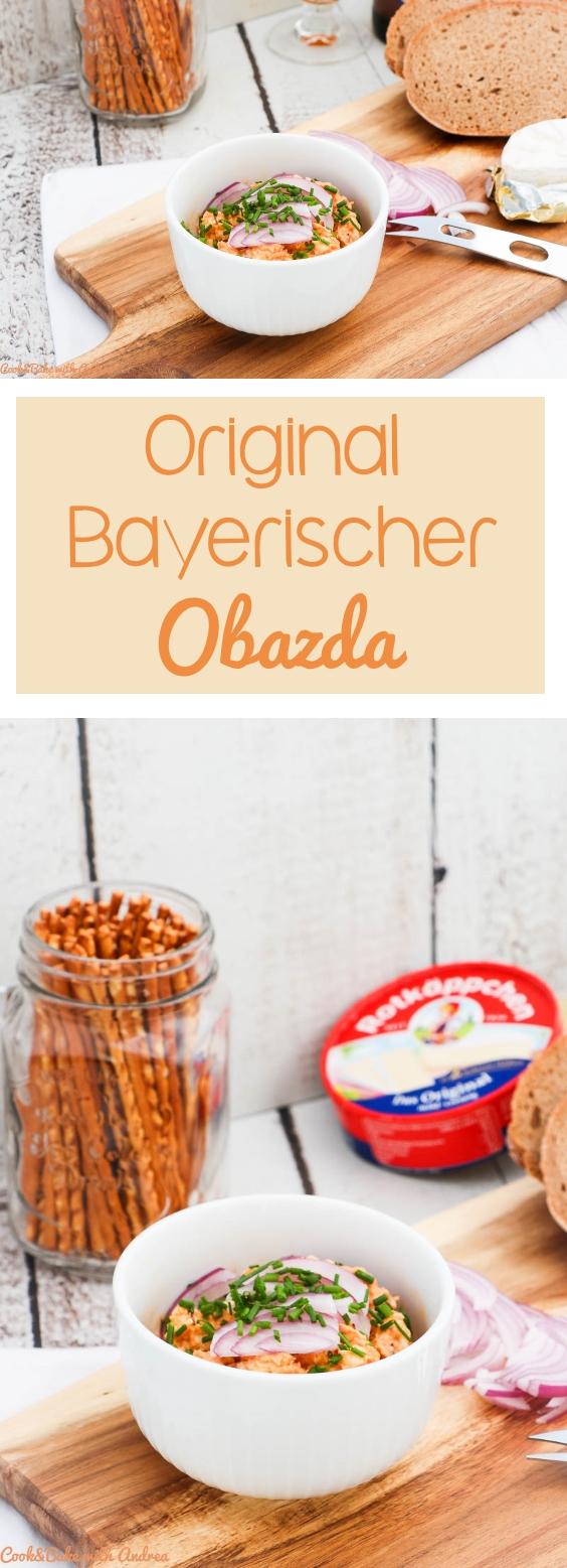 Die Wiesn bzw. das Oktoberfest in München ist in vollem Gange und für alle, die nicht dort sein können habe ich das passende Rezept: selbstgemachter Obazda/Obatzter/Obatzda! Das kinderleichte Rezept gibt´s bei Cook and Bake with Andrea.