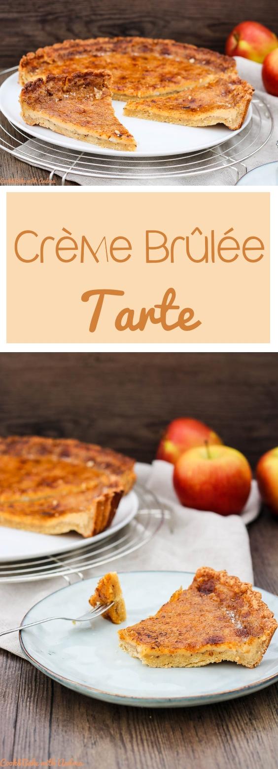 Creme Brulee gehört zu meinen absoluten Lieblingsdesserts, aber heute habe ich nicht das klassische Rezept für euch, sondern heute gibt es den leckeren Nachtisch als Tarte. Funktioniert sicher auch mit bayerischer Creme oder Crema Catalana! Beide Rezepte (auch für den Klassiker) findet ihr auf dem Blog von Cook and Bake with Andrea.