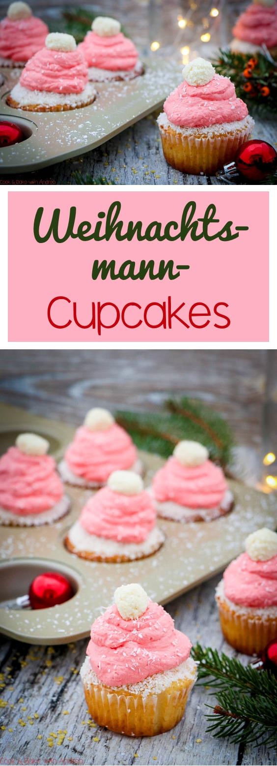 Zu Weihnachten muss es viel Kitsch sein, deswegen habe ich mich zum Nikolaus diese Weihnachtsmann-Cupcakes überlegt, die Kinderaugen zum Strahlen bringen werden. Das einfache Rezept findet ihr auf dem Foodblog von Cook & Bake with Andrea.