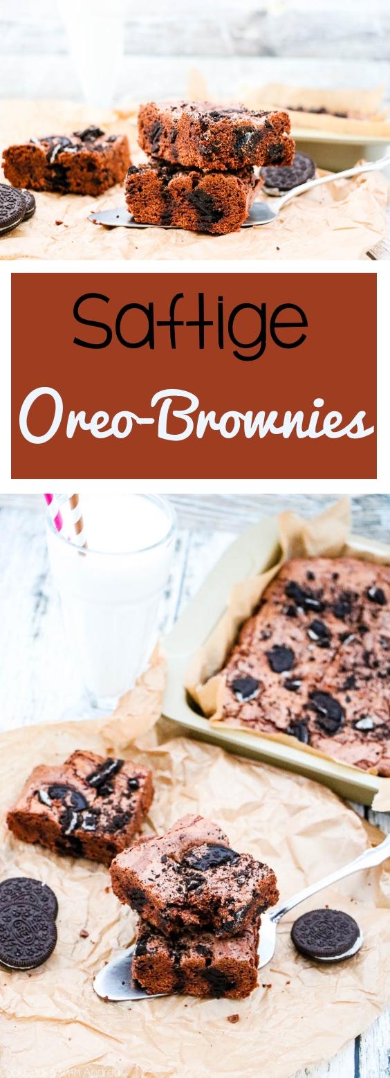 Nichts geht über ein einfaches, gelingsicheres Brownie-Rezept! Deswegen habe ich saftige Brownies mit Oreo gebacken; das schnelle und einfache Rezept findet ihr auf dem Foodblog von Cook and Bake with Andrea.