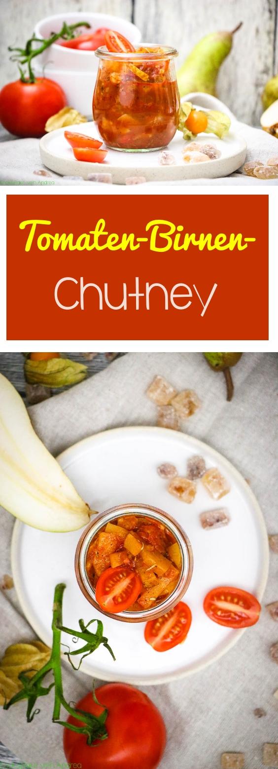 Auch wenn es sich auf den ersten Moment etwas befremdlich anhört, mein Tomaten-Birnen-Chutney schmeckt einfach grandios und ist noch dazu schnell gemacht. Das perfekte Geschenk aus der Küche. Das einfache Rezept findet ihr auf dem Foodblog von Cook and Bake with Andrea.