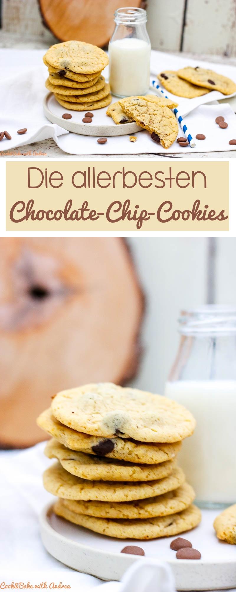 Mein Kindheitstraum: das perfekte Rezept für Chocolate-Chip-Cookies, wie man sie aus amerikanischen Rezepten kennt. Nach einigem Rumprobieren habe ich es vermutlich endlich geschafft. Das Rezept gibt es bei Cook and Bake with Andrea.