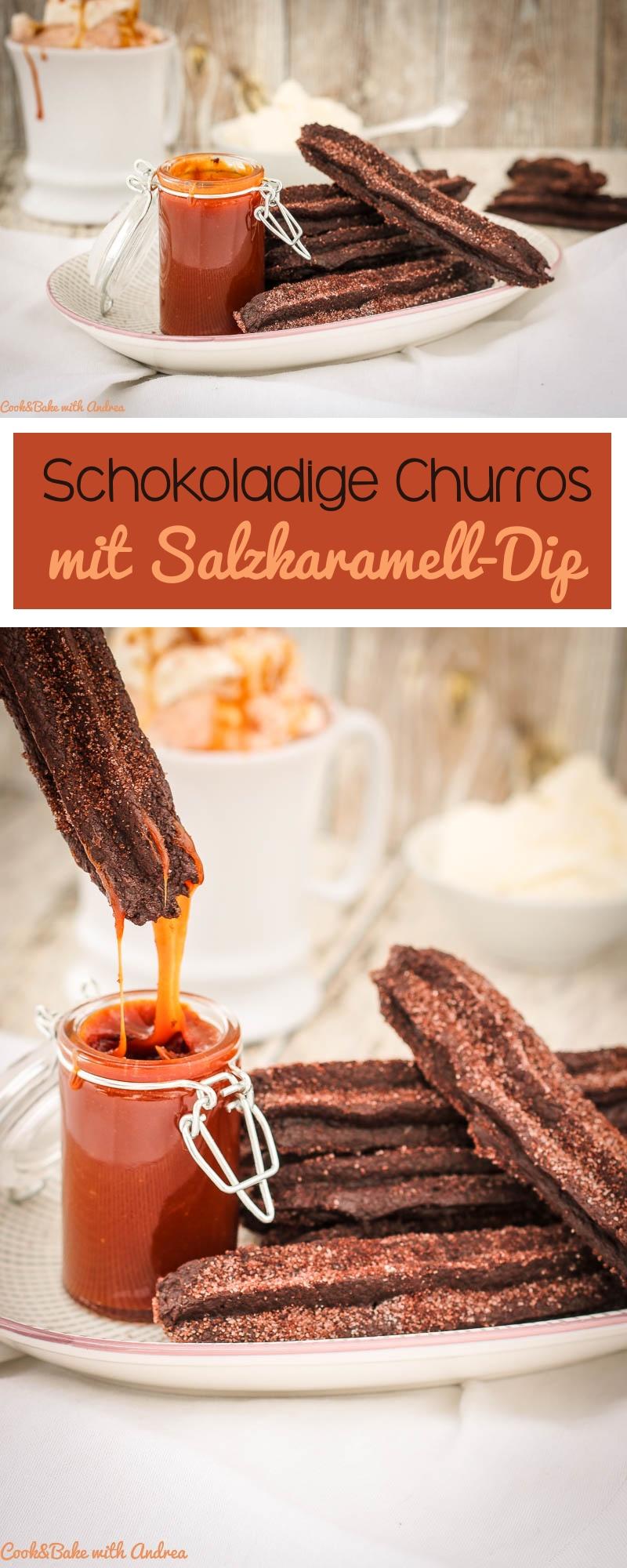 Was man aus einfachem Brandteig so alles machen kann! In Deutschland in Form von Windbeuteln am bekanntesten, kennt man ihn in Spanien am besten als Churros. Heute habe ich ein abgewandeltes, schokoladiges Rezept mit Salzkaramell-Dip, das ihr auf Cook and Bake with Andrea findet.