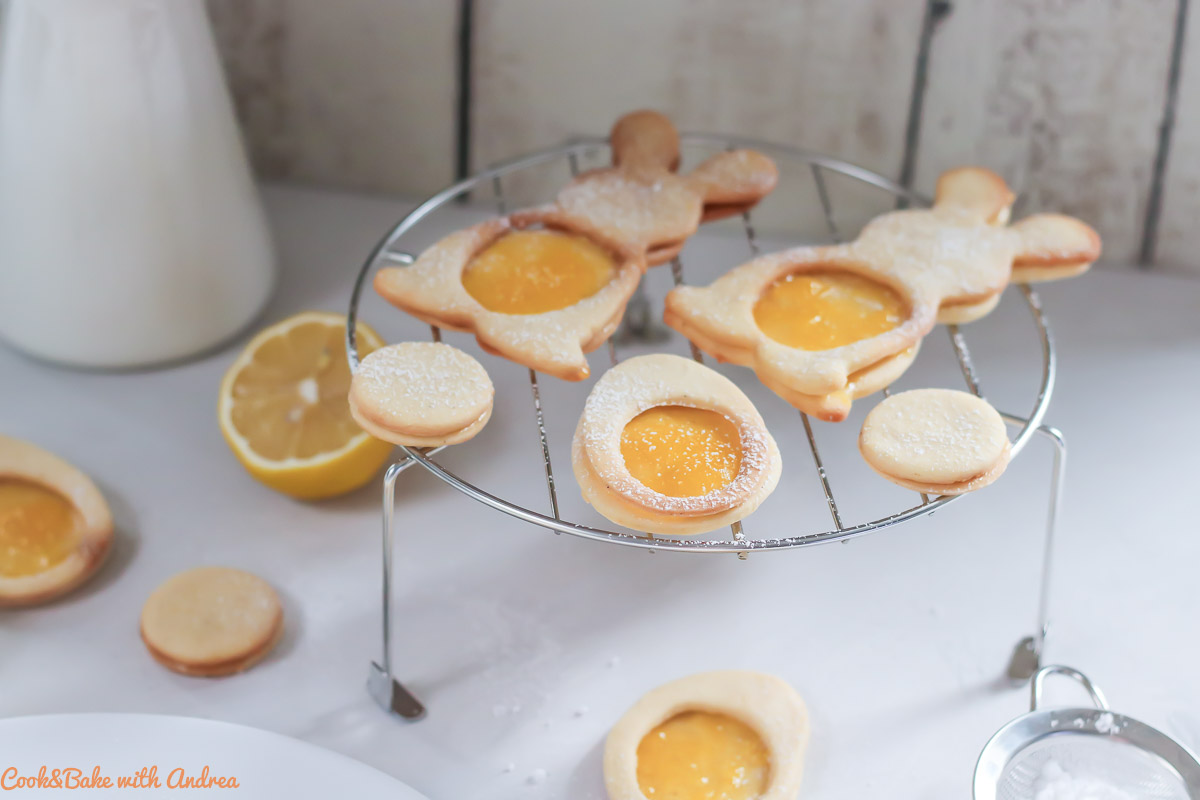 Osterplätzchen mit selbstgemachtem Lemon Curd