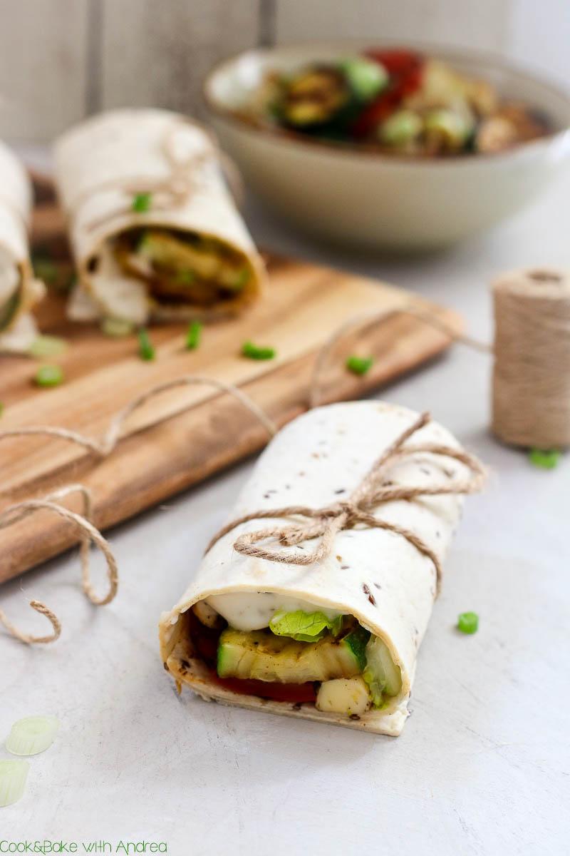 Aldi Rezepte Weihnachten.Vegetarische Wraps Mit Grillgemuse C B With Andrea