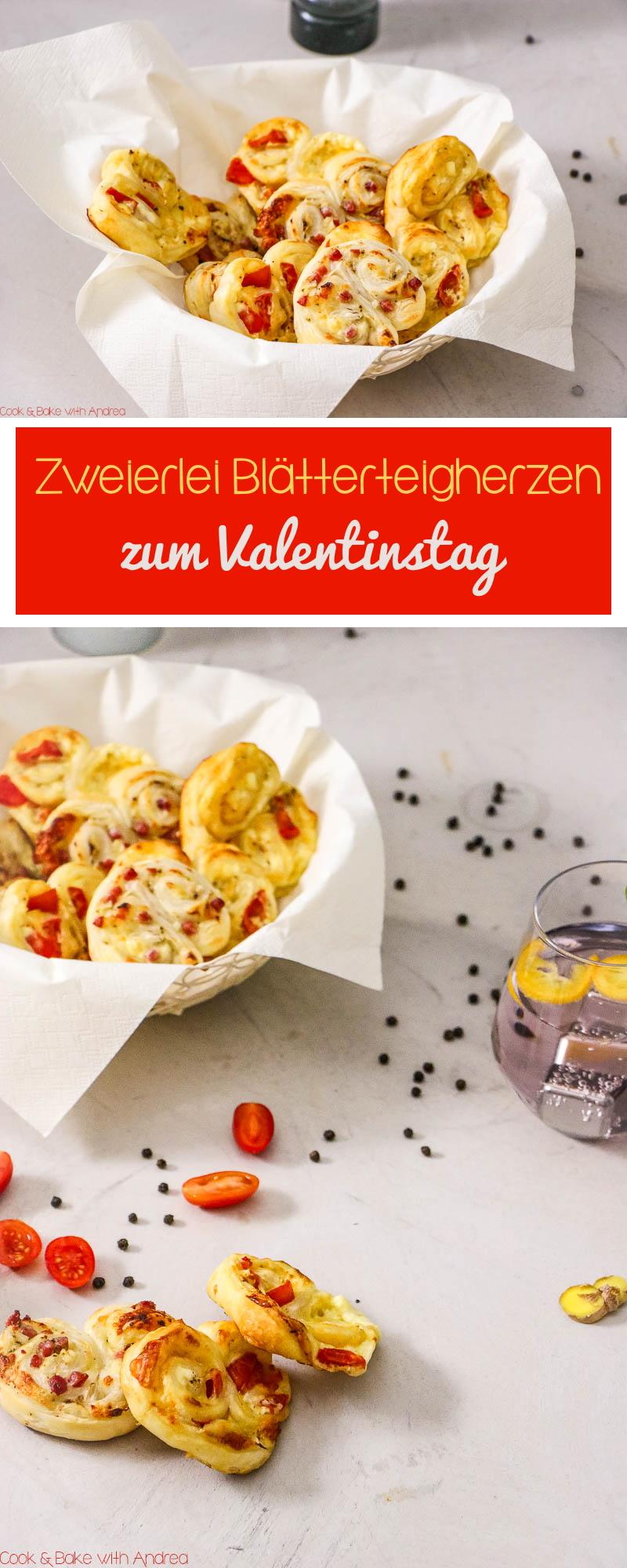 Der Valentinstag steht vor der Tür und um eurem liebsten Menschen eine Freude zu machen, habe ich heute für euch zweierlei Blätterteigherzen und einen Liebestrank. Liebe geht schließlich durch den Magen und Cook & Bake with Andrea hat die passenden Rezepte für euch!