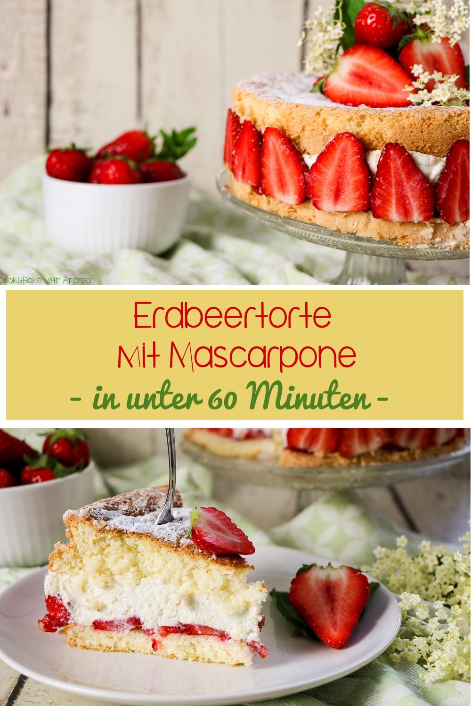 Erdbeeren + Biskuit + Mascarpone = ein absolutes Dreamteam! Erweitert habe ich dieses perfekte Trio bei meiner Erdbeertorte noch mit etwas selbstgemachtem Holunderblütensirup. Das Rezept gibt´s bei Cook and Bake with Andrea.