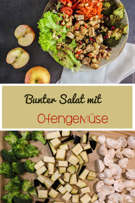 Salat ist langweilig? Da muss ich leider widersprechen! Mein bunter Salat mit ganz viel Ofengemüse ist nicht nur farbenfroh, sondern mega gesund und dazu noch unfassbar lecker! Das schnelle Abendessen findet ihr auf dem Foodblog von Cook and Bake with Andrea.