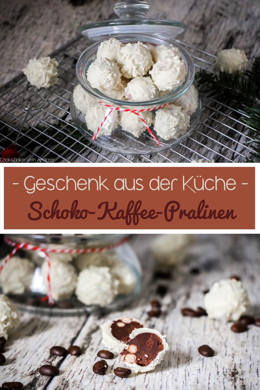 Selbstgemachte Geschenke aus der Küche zu Weihnachten sind bei mir ein absolutes Muss! Dieses Jahr gibt es unter anderem weiße Schoko-Kaffee-Pralinen. Das unfassbar einfache Einsteiger-Rezept findet ihr auf dem Foodblog von Cook and Bake with Andrea.