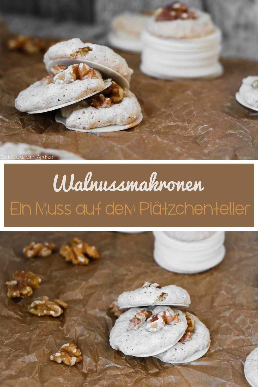 Schnell, einfach und super lecker! Meine absoluten Lieblingsweihnachtsplätzchen sind Walnussmakronen. Sie sind unfassbar schnell zubereitet und zergehen leicht auf der Zunge. Das unfassbar leichte Plätzchen-Rezept findet ihr auf dem Foogblog von Cook and Bake with Andrea.